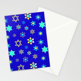 Hanukkah Holidays Celebration of Miracles Pattern Stationery Cards