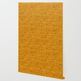 Cactus Silk In Gold Wallpaper