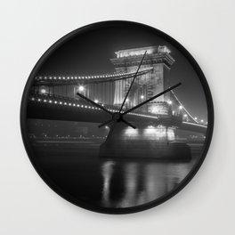 Chain Bridge Budapest Wall Clock