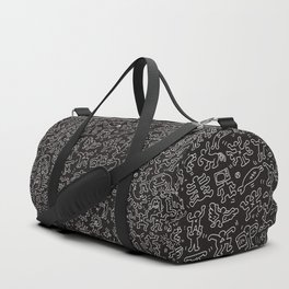 Doodles Homage to Keith Haring Black Duffle Bag
