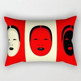Noh, Ephemera (from Studio Glmn archives) Rectangular Pillow