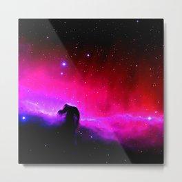 Galaxy : Horsehead nEbUlA Pink Red Purple Metal Print