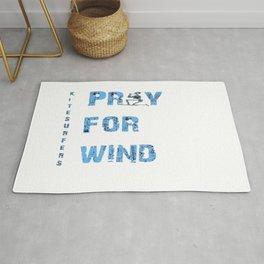 Kiteboarding Humor Kneeling Skeleton Praying For Wind Rug