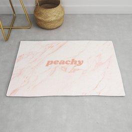 peachy blush marble Rug