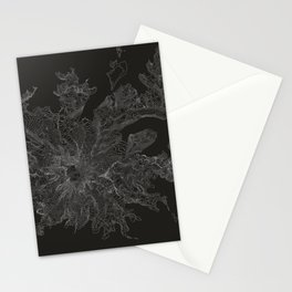 Mount Rainier, WA Contour Map Stationery Cards