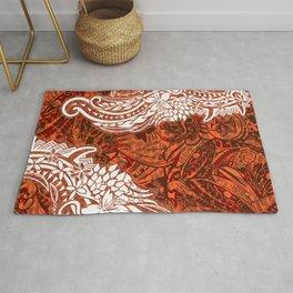 Polynesian - Hawaiian Kona Lava Abstract Tribal Threads Rug