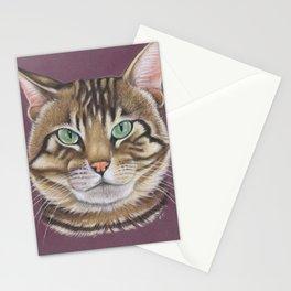 Arnie Tabby Tomcat Kitty Pastel Art Stationery Cards