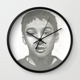 Ad Rock Portrait Drawling Wall Clock