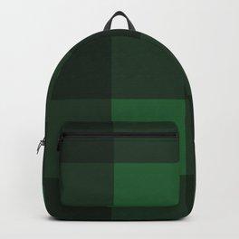 Green and Black Plaid Backpack
