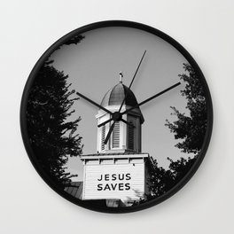 Jesus Saves Charleston Wall Clock