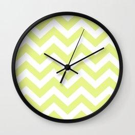 Key lime - green color - Zigzag Chevron Pattern Wall Clock