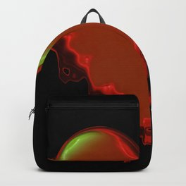 Melted red heart Backpack