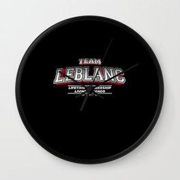 Team LEBLANC Family Surname Last Name Member Wall Clock