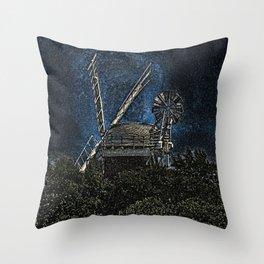 Horsey windmill Throw Pillow