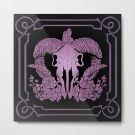 Negative purple Metal Print