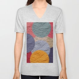 rounds of paper Unisex V-Neck