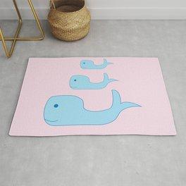 Cute Whales Rug