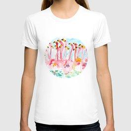 Welcome to Miami - Flamingos Illustration T-shirt
