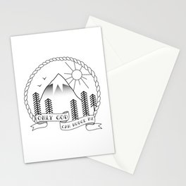 Only God Can Nudge Me Stationery Cards
