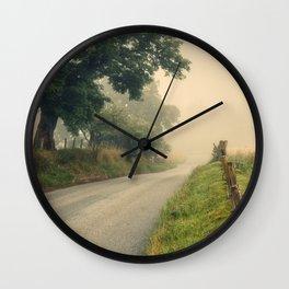 Country Lane Wall Clock