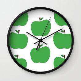 Green Apples Wall Clock