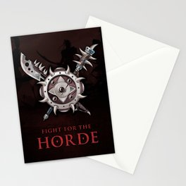 For The Horde Weapons Shield Stationery Cards