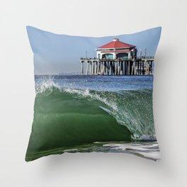 Surf City Shore-break & Ruby's Diner Throw Pillow
