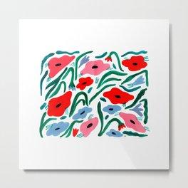 Blooming Flower Garden Metal Print