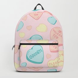 Introvert Conversation Hearts Backpack