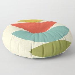 Mid-Century Modern Half Circles - Multi Floor Pillow