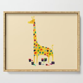 Paint by number giraffe Serving Tray