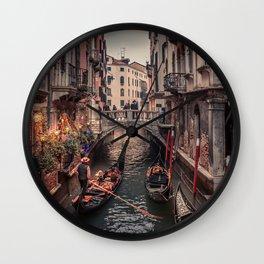 A Gondola Ride in Venice Wall Clock