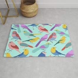 Colorful Bird Collection Rug