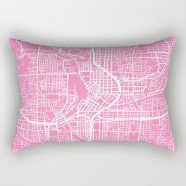 Atlanta map pink Rectangular Pillow