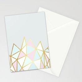Gold & Pastel Geometric Pattern Stationery Cards
