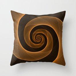 Bright Neon Orange Infinity Mesh Spiral Matrix Throw Pillow