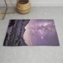Galactic Center over Aoraki, New Zealand Rug