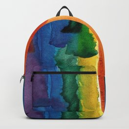 rainbow watercolor Backpack