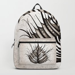 Abstract Hairy Leaf Art In Sepia Backpack