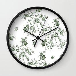 Penis Pattern GREEN Wall Clock