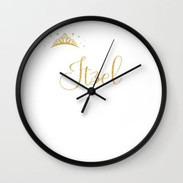 Queens Are Named Itzel Personalized First Name Girl product Wall Clock