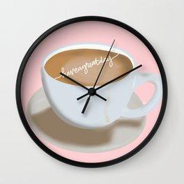 Nice Day Latte Art  Wall Clock