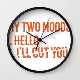 Hello I'll Cut You Funny Mechanic Office Gift Wall Clock