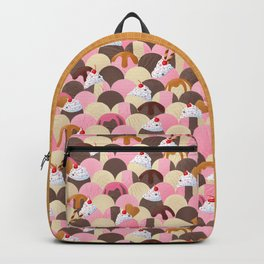 Ice Cream Sundaes - Neapolitan Pattern Backpack