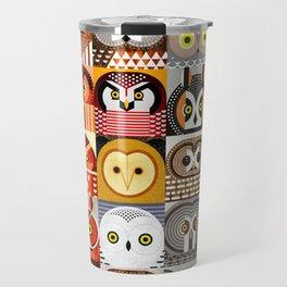 North American Owls Travel Mug
