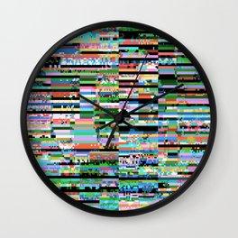 03245 (glitch art) Wall Clock