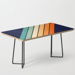 Farida - 70s Vintage Style Retro Stripes Coffee Table