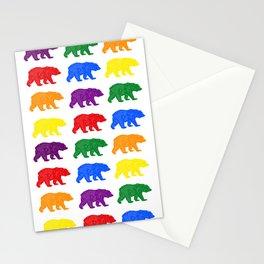 Rainbow Bears gay bears osos lgbt pride bear week Stationery Cards