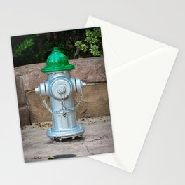 Super Centurion in Sliver and Green Fire Hydrant Fire Plub Stationery Cards