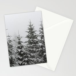 Winter Forest Fir Tree Snow II - Nature Photography Stationery Cards